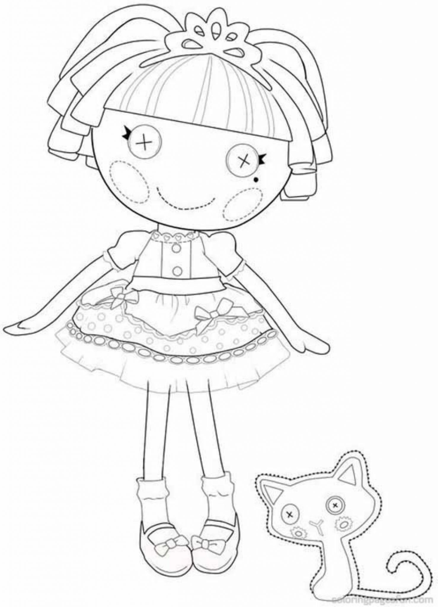 Free Coloring Pages Download Lalaloopsy Printable Bestappsforkids Of Color On