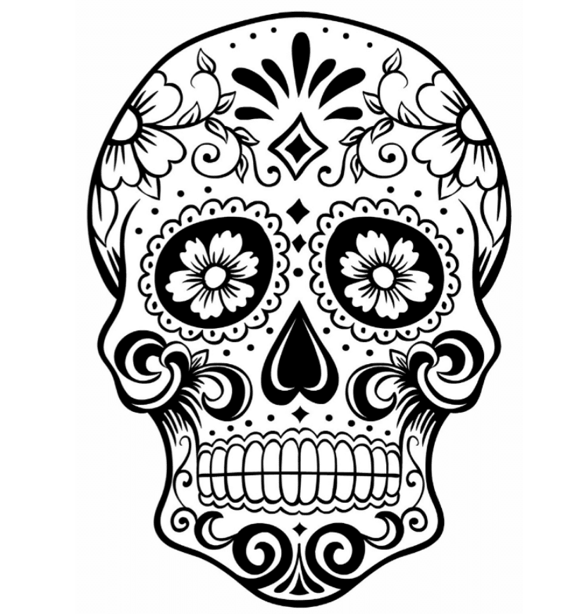 Print & Download - Sugar Skull Coloring Pages to Have ...
