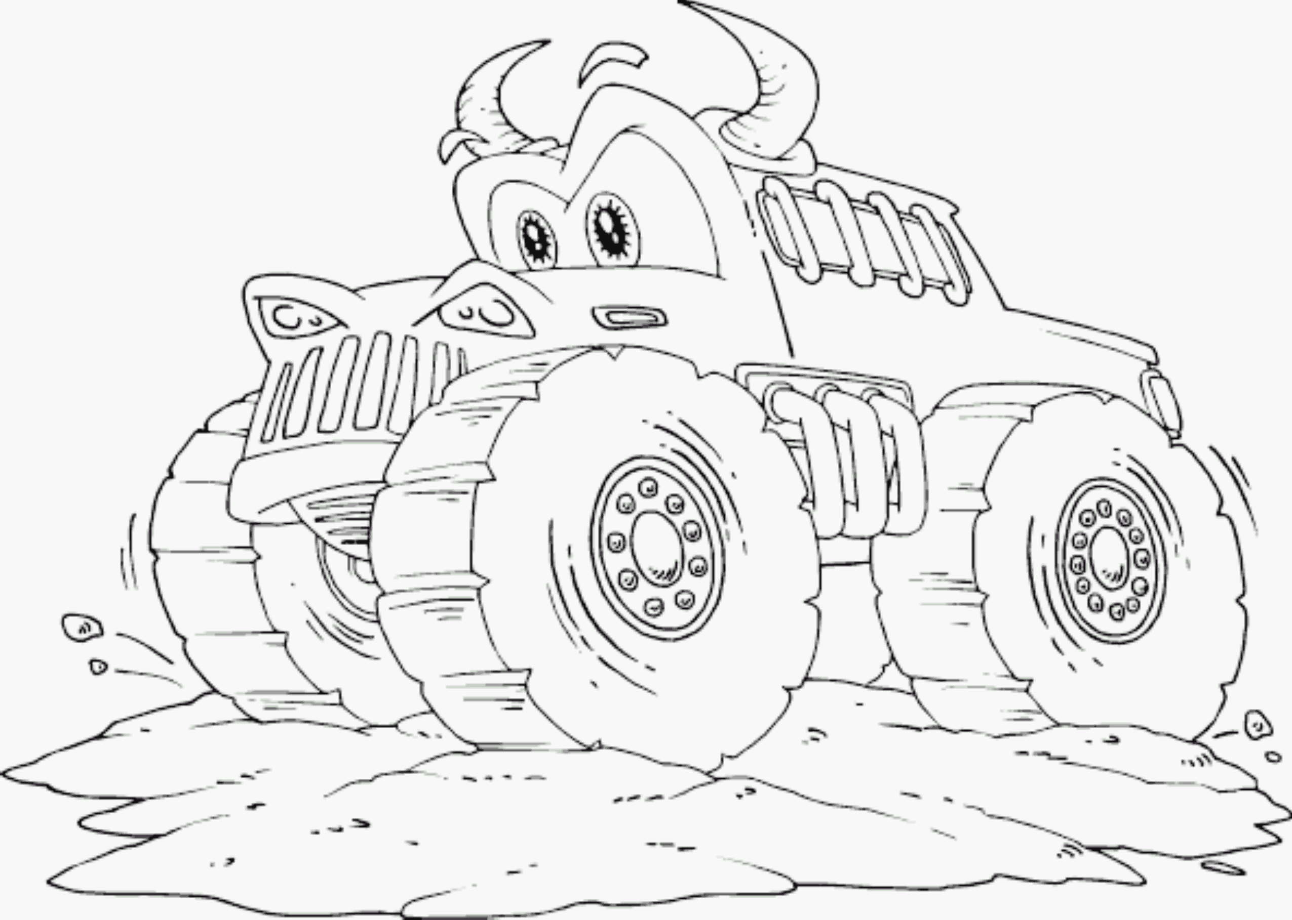Monster Truck Colouring Pages To Print