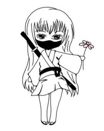 ninja-girl-coloring-pages