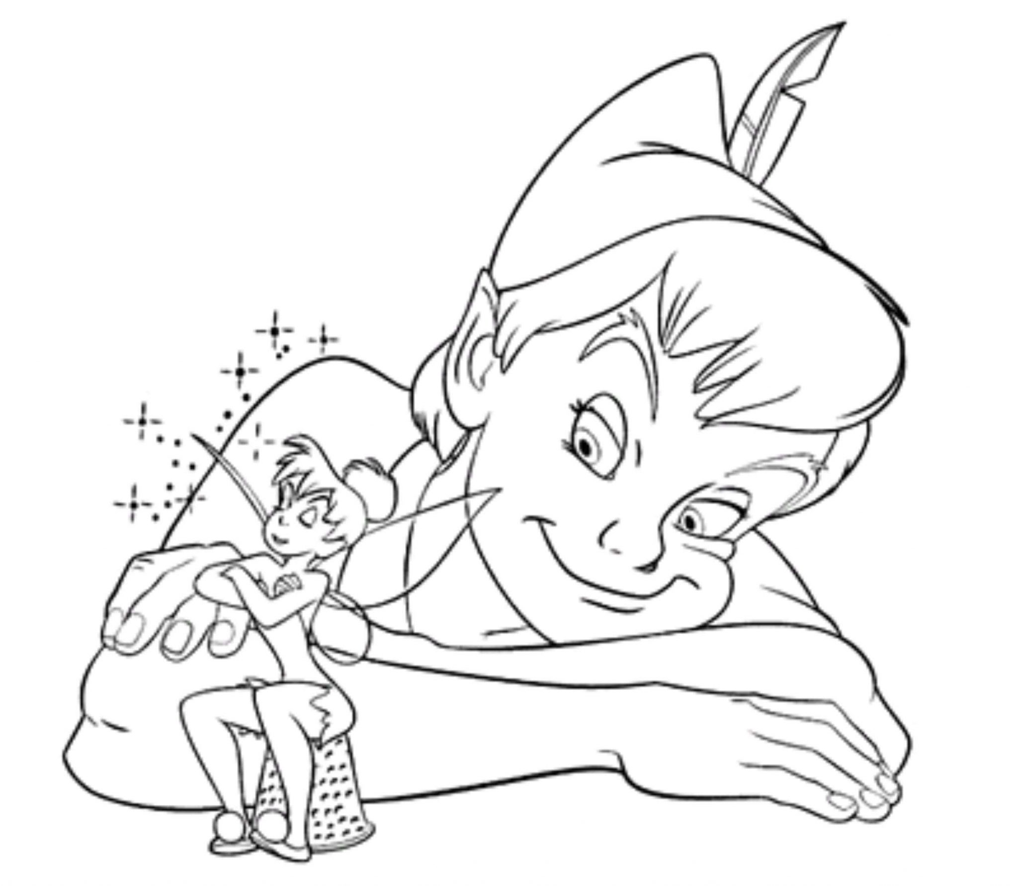 Peter Pan Tinkerbell Coloring Pages