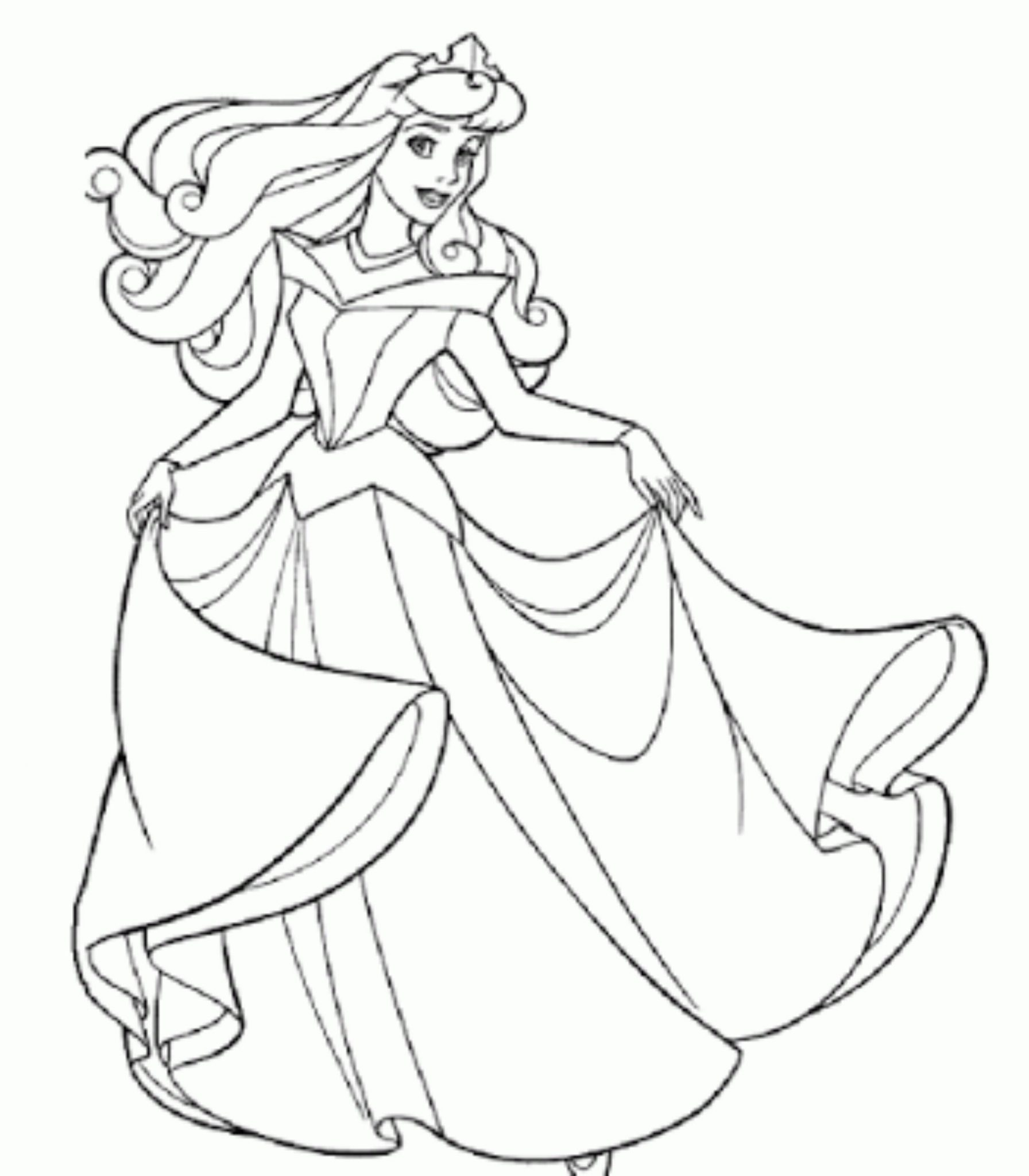 Print & Download - Princess Coloring Pages, Support The Child\'s Activity