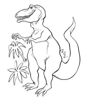 realistic-t-rex-coloring-pages