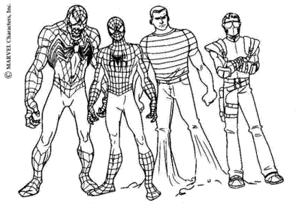 spiderman-color-pages-to-print-for-free