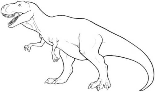t-rex-coloring-page