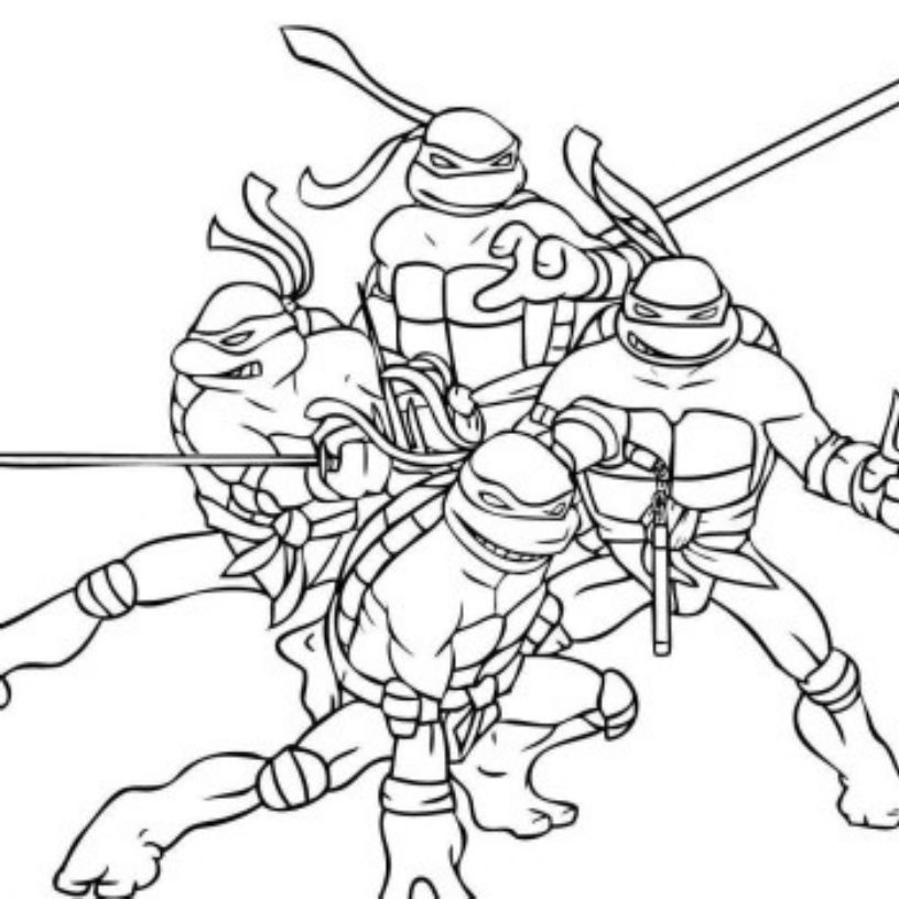 Gallery Of The Attractive Ninja Coloring Pages For Kids Activity
