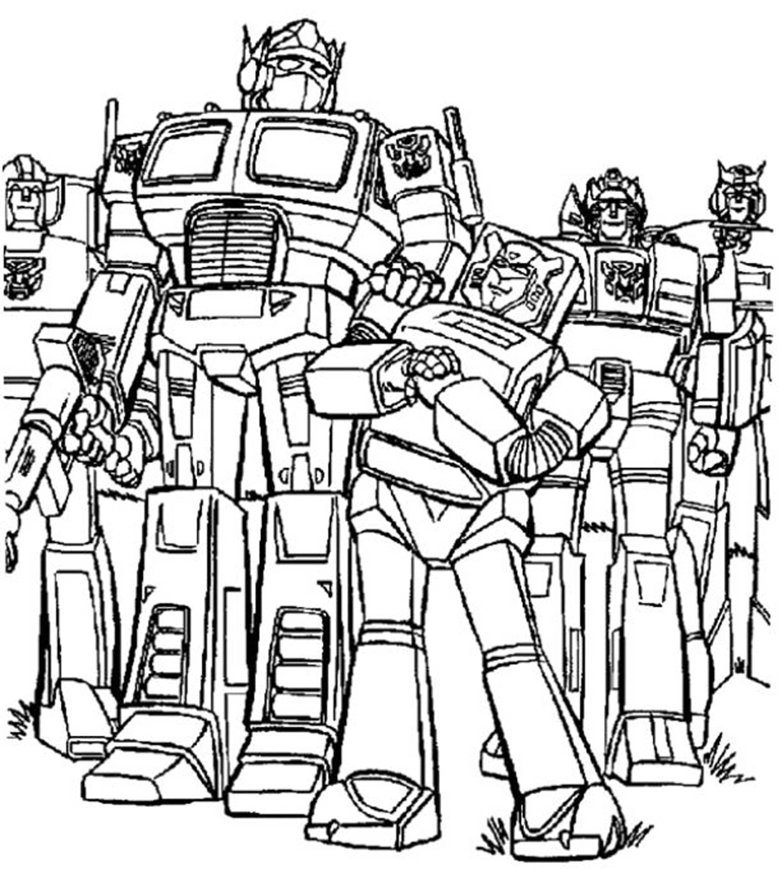 Gallery Of Inviting Kids To Do The Transformers Coloring Pages