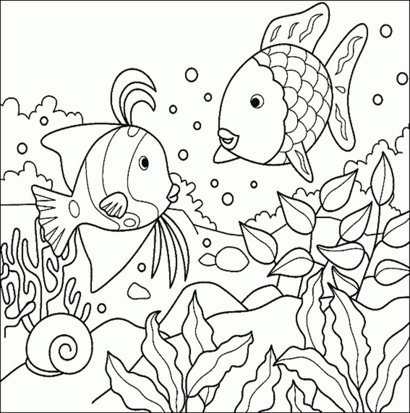 print & download  cute and educative fish coloring pages