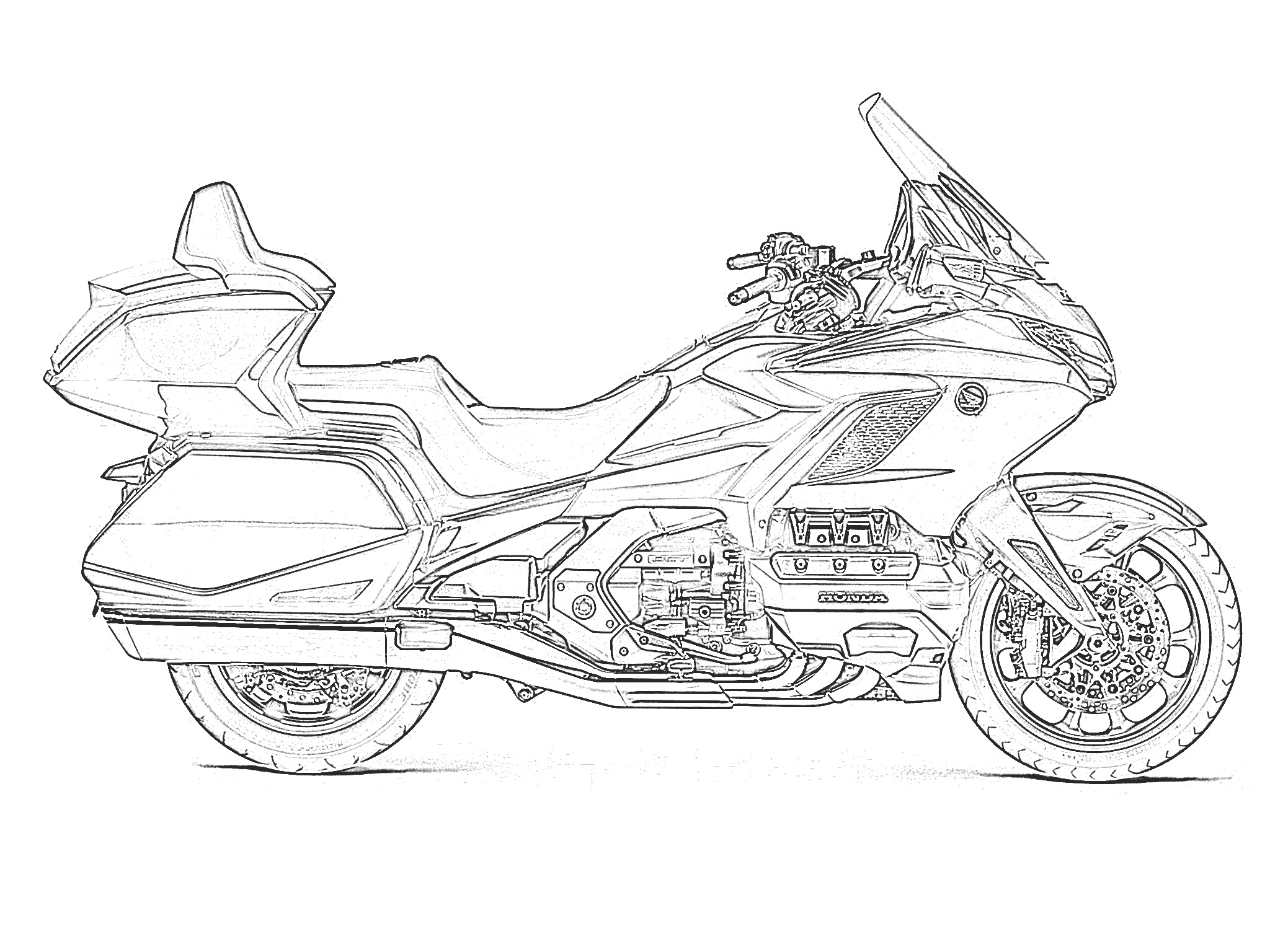 Printables Free Motorcycle Coloring Pages