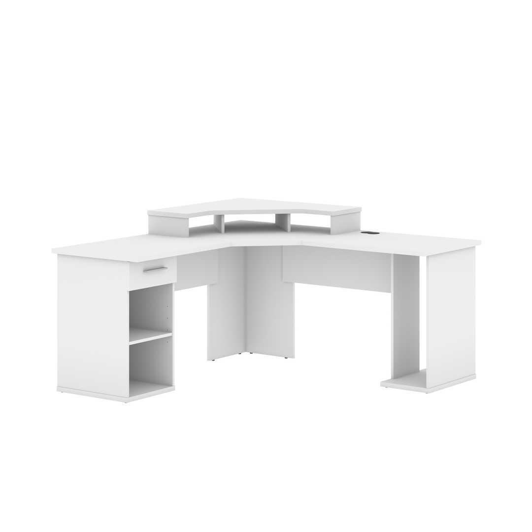 hampton l shaped corner gaming desk bestar