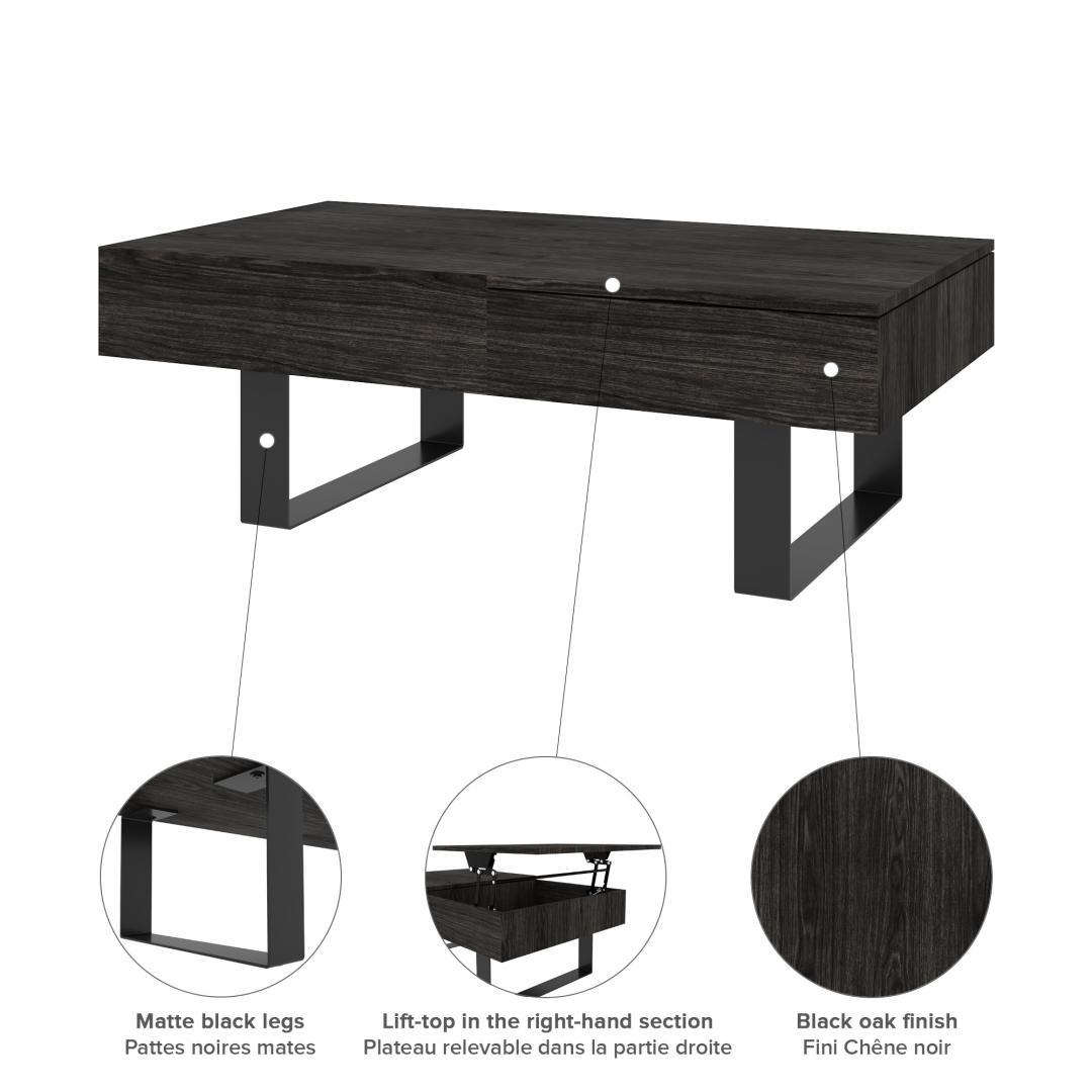lyra lift top coffee table bestar