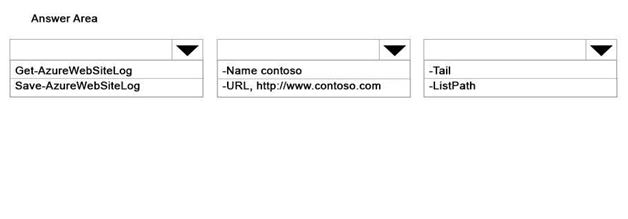 You manage a web application named Contoso that is