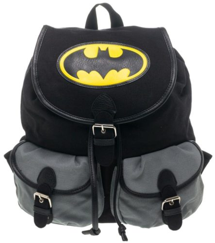 BIOWORLD DC Comics Batman Logo Color Block Knapsack Backpack