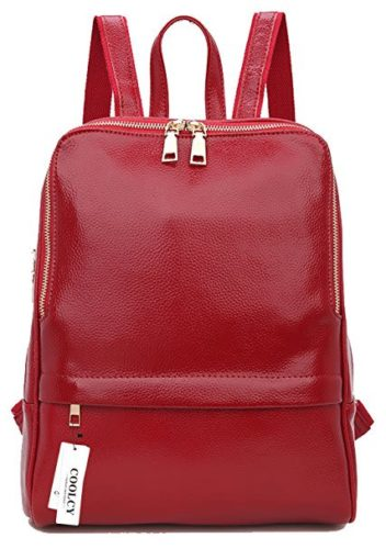 Coolcy Hot Style Women Real Genuine Leather Backpack