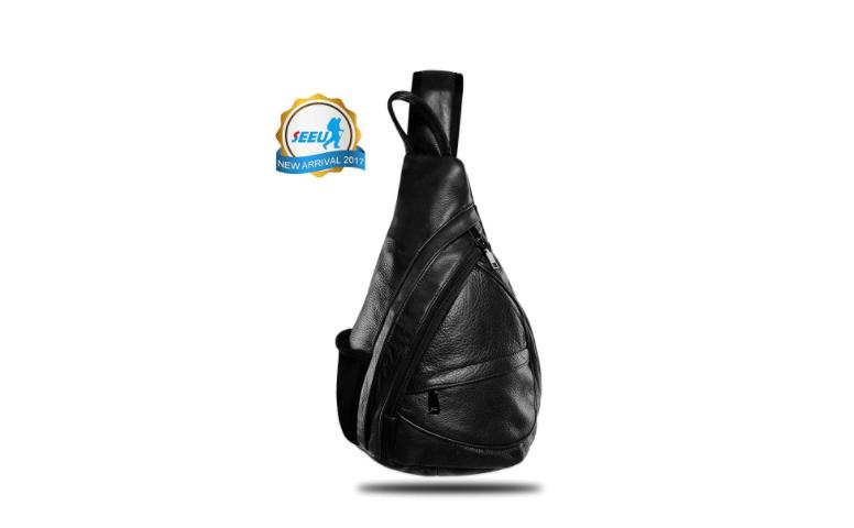 Leather Sling Bag Backpack