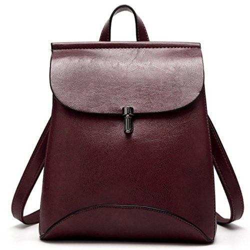 SiMYEER Women's Pu Leather Backpack Purse