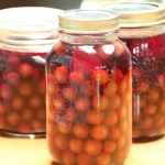 Canned pitted Evans sour cherries from my pantry