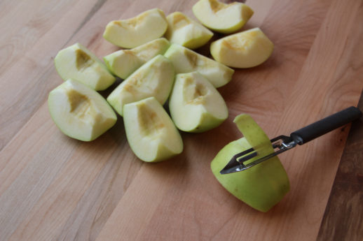 Quarter and Peel Golden Delicious Apples