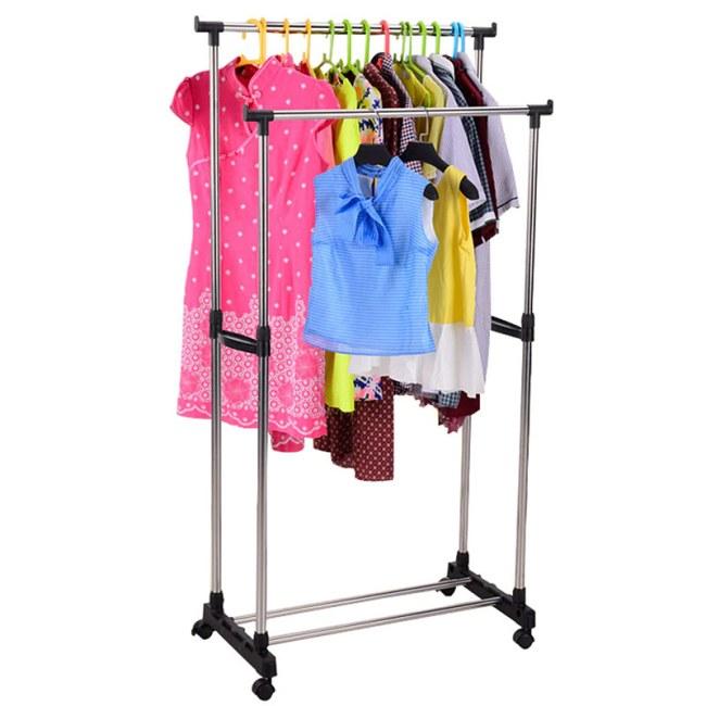 Double Pole Cloth Hanger Rack