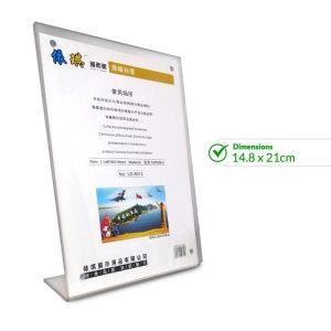 Acrylic Price Display Holder 14.8 x 21cm - LD-6012