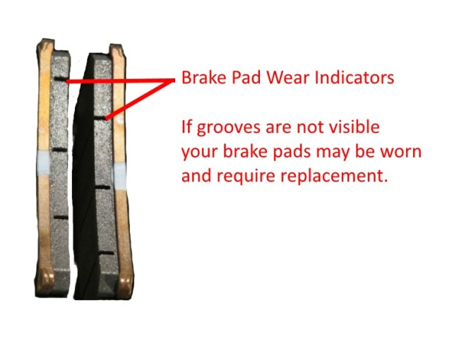 Brake pad wear indicators
