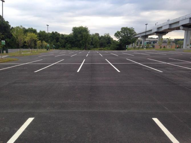 An Empty Parking Lot