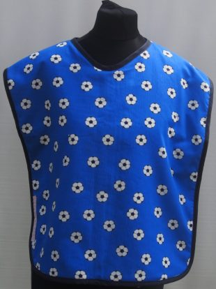 Blue with Football Motif Everyday Bib