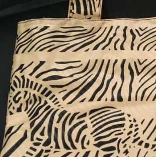 Zebra Print Handmade Bag Detail