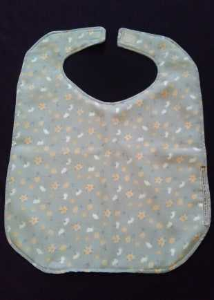 Everyday Grey Floral Bib