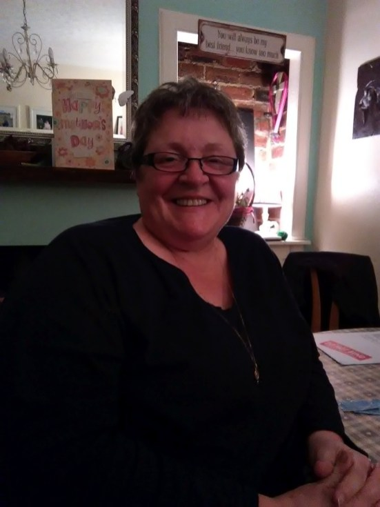 Lesley who helps run the Community Sewing and Photography Groups