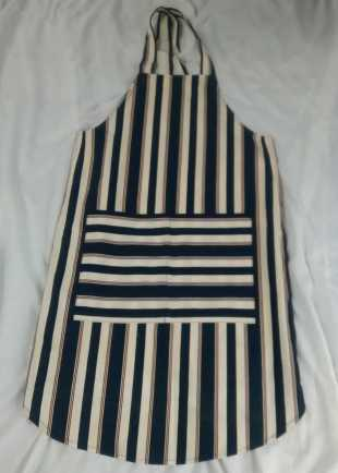 Striped Cover-all Apron Adult