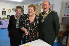 Lord Provost with Isa+Lesley