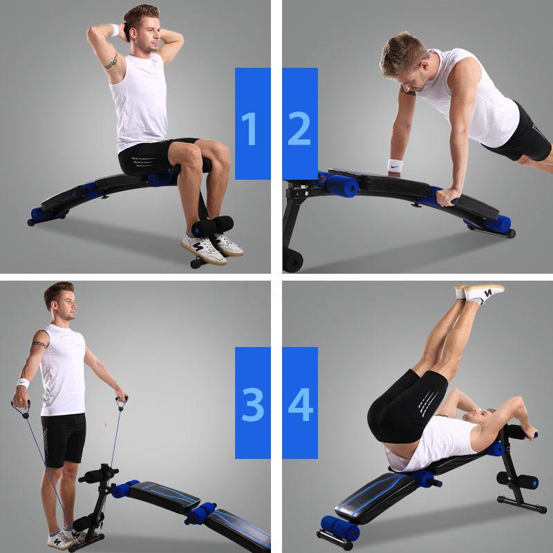 Sit Up Abdominal Bench Adjustable Press Weight Gym