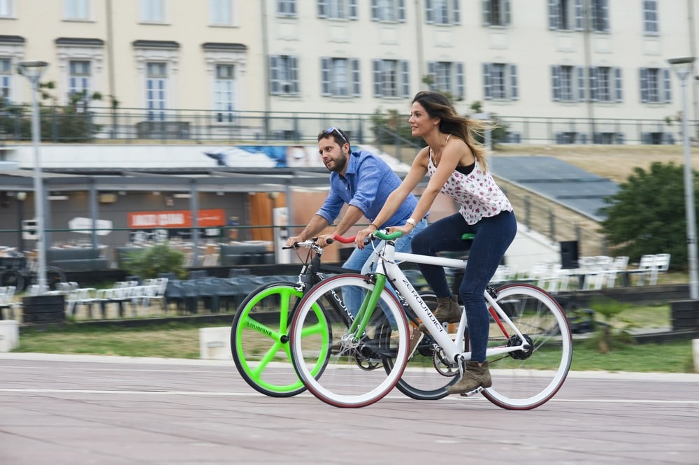 Two rider on Hybrid Bike - shopping for a hybrid Bike