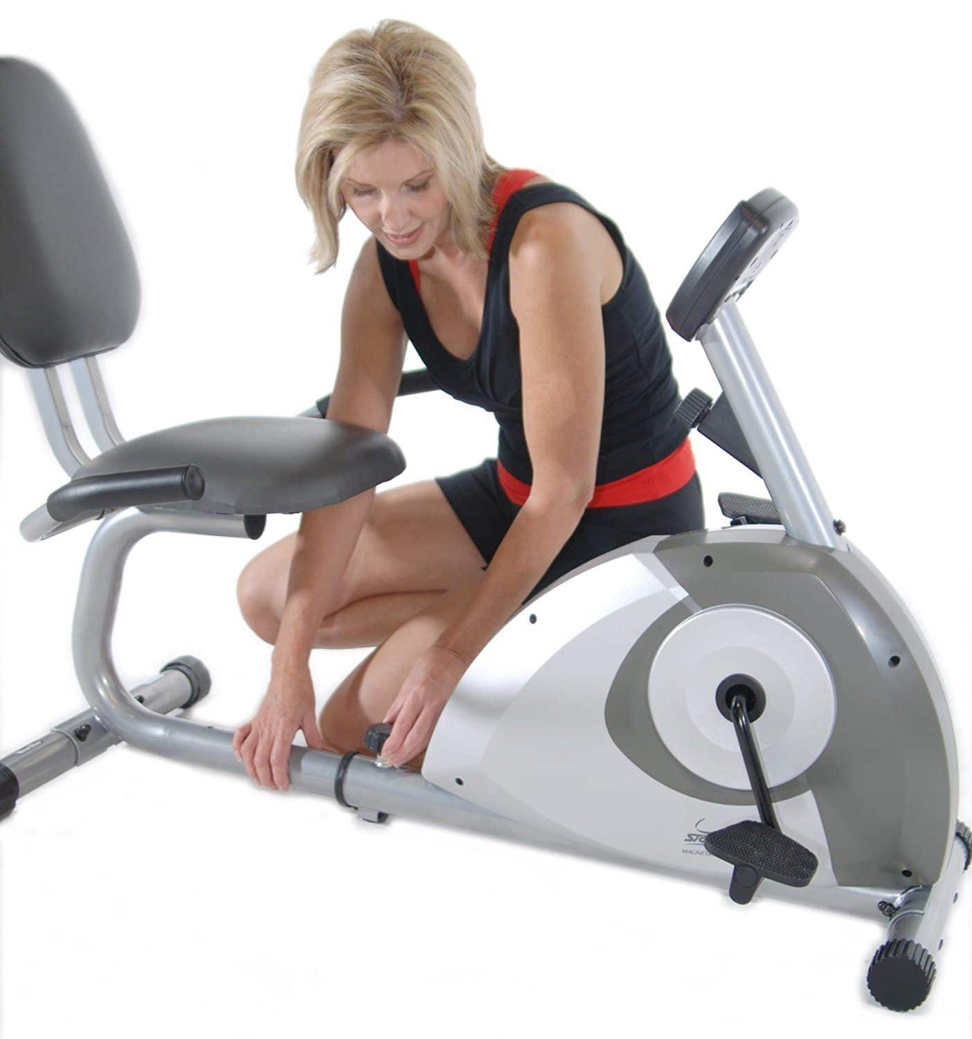 Stamina 1350 recumbent bike adjustment