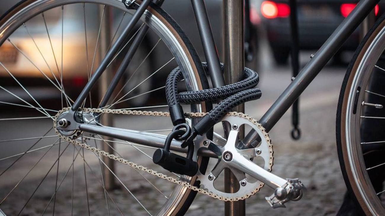 high tech bike lock