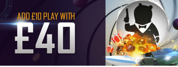 Ted Bingo Welcome Bonus - Deposit 10 and Play with 40