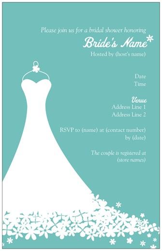 Bridal Shower Honoring Printable Invitation Template