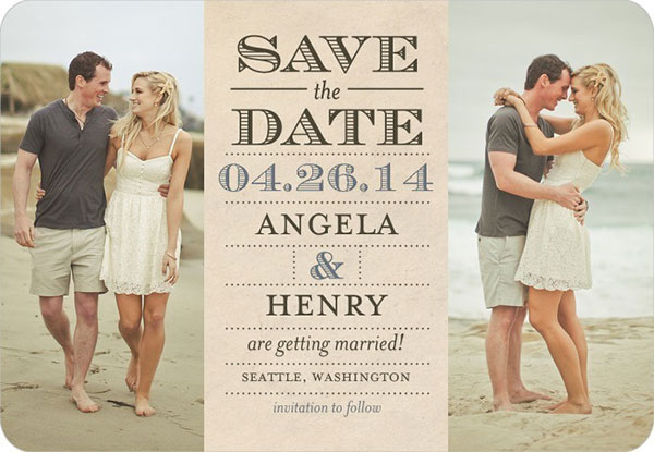 A Rustic Wooden Save The Date