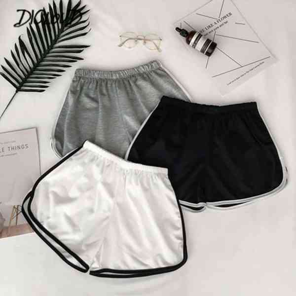 Simple Women Casual Shorts Patchwork Body Fitness Workout Summer Shorts Female Elastic Skinny Slim Beach Egde Short Hot 1