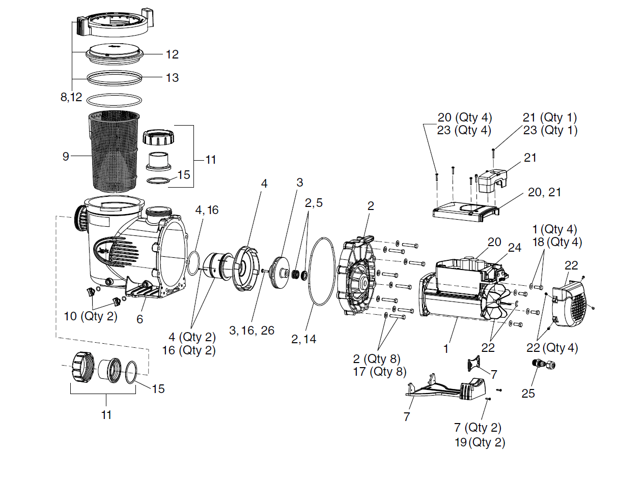 Jandy Epump Parts