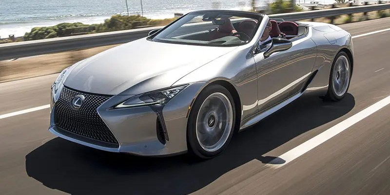 2021 Lexus LC 500 Convertible. Topless Luxury Abounds.