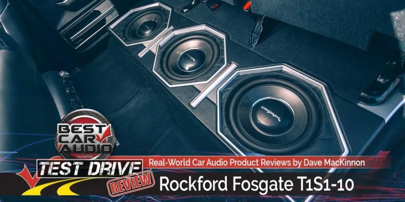 Test Drive Review: Rockford Fosgate T1S1-10 Slim Car Audio Subwoofer