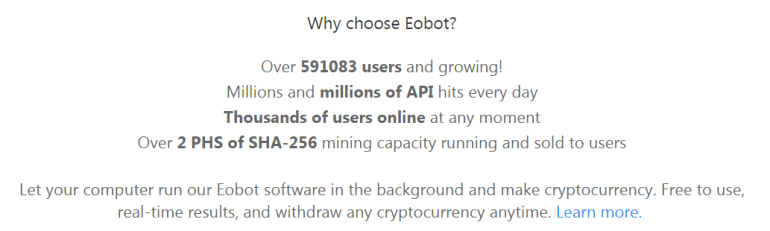 Why choose Eobot