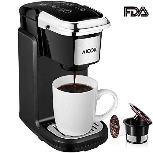 Aicok Single Cup Coffee Maker Single Serve Coffee Brewer With