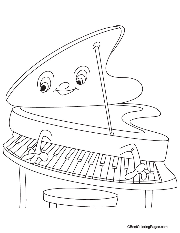 piano coloring page  download free piano coloring page