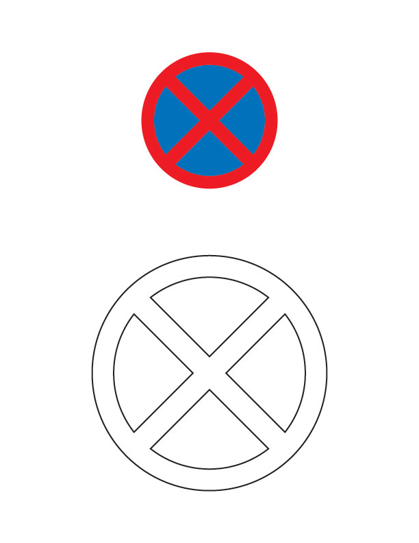 no stopping traffic sign coloring page for kids best coloring pages