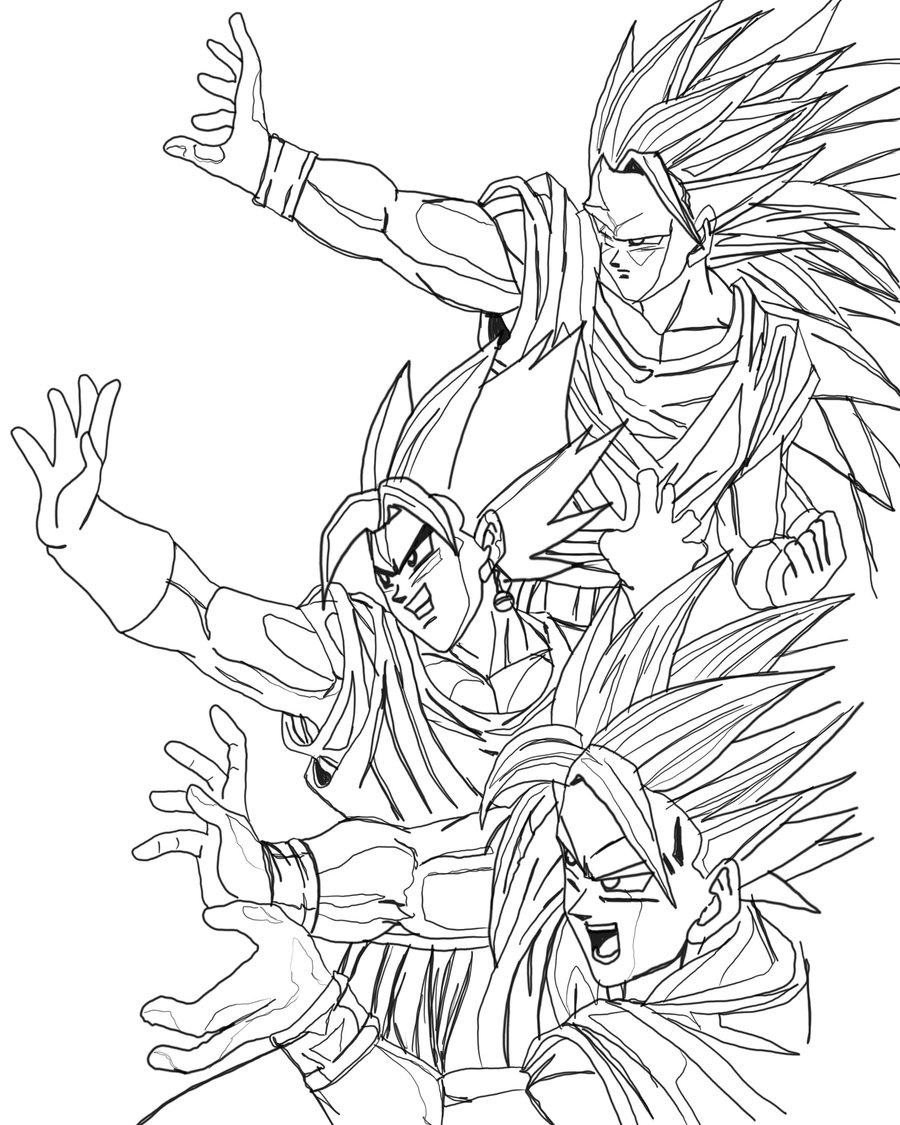 Dragon Ball Z Ss4 Coloring Pages - Coloring Home | 1125x900