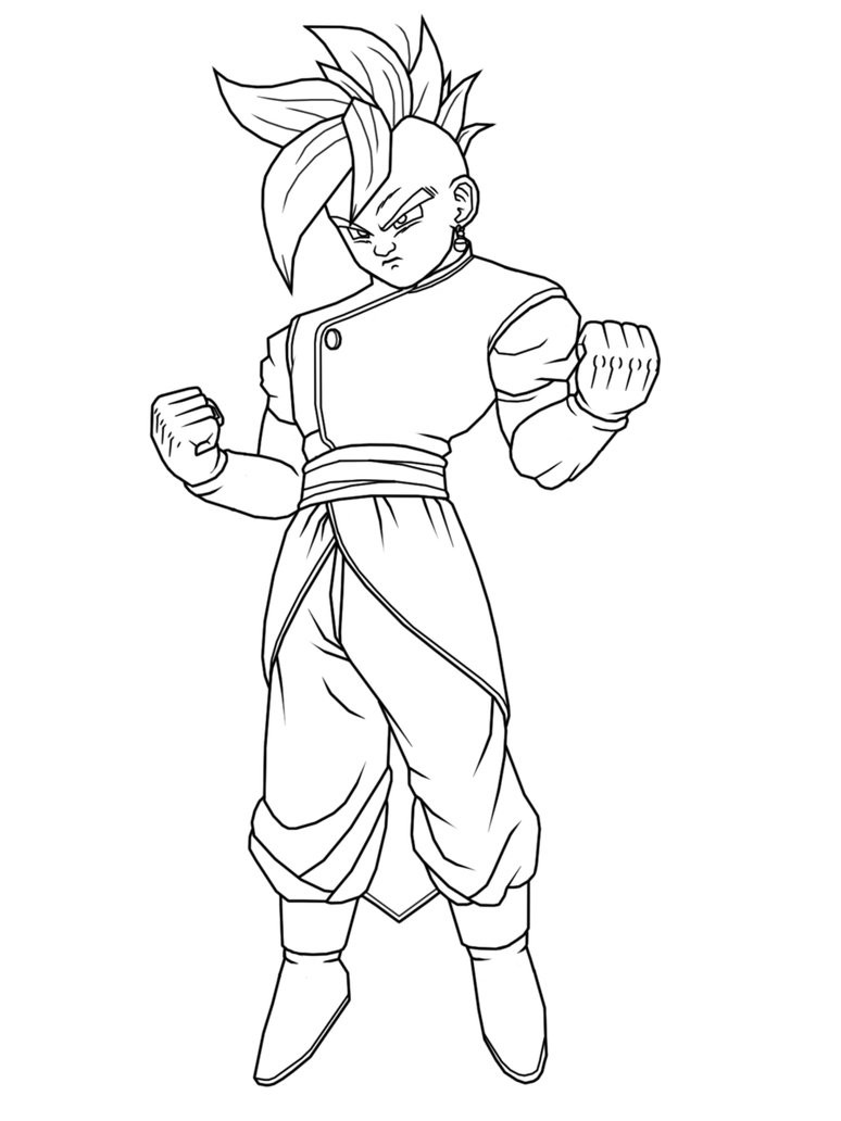 printable gohan coloring pages cooloring com