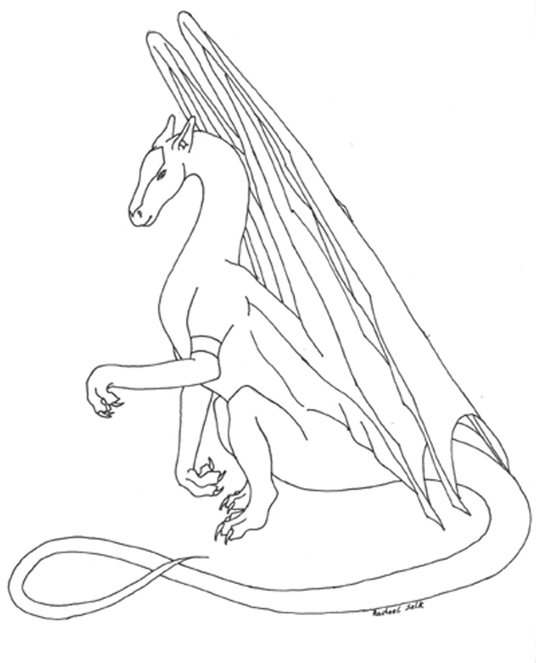 Coloring pages of dragons